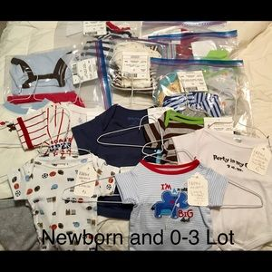 Newborn And 0-3 Months Boys Lot